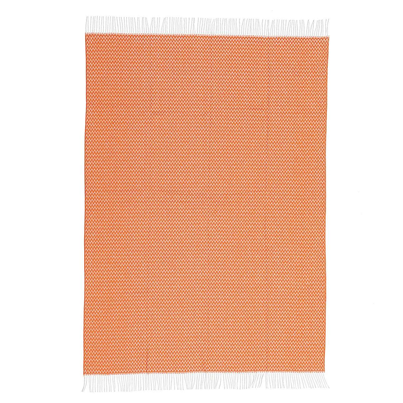 Pléd Ibiza 140x200cm orange chevron