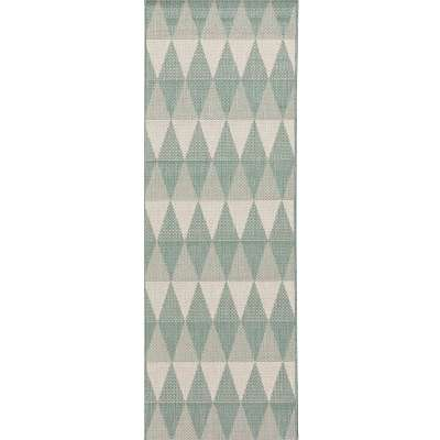 Teppich Lineo spa blue/wool 60x180cm