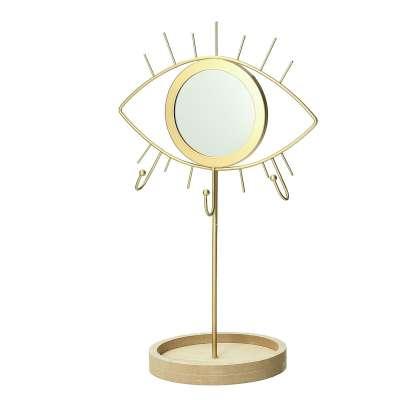 Stojak na biżuterię z lusterkiem Gold Eye