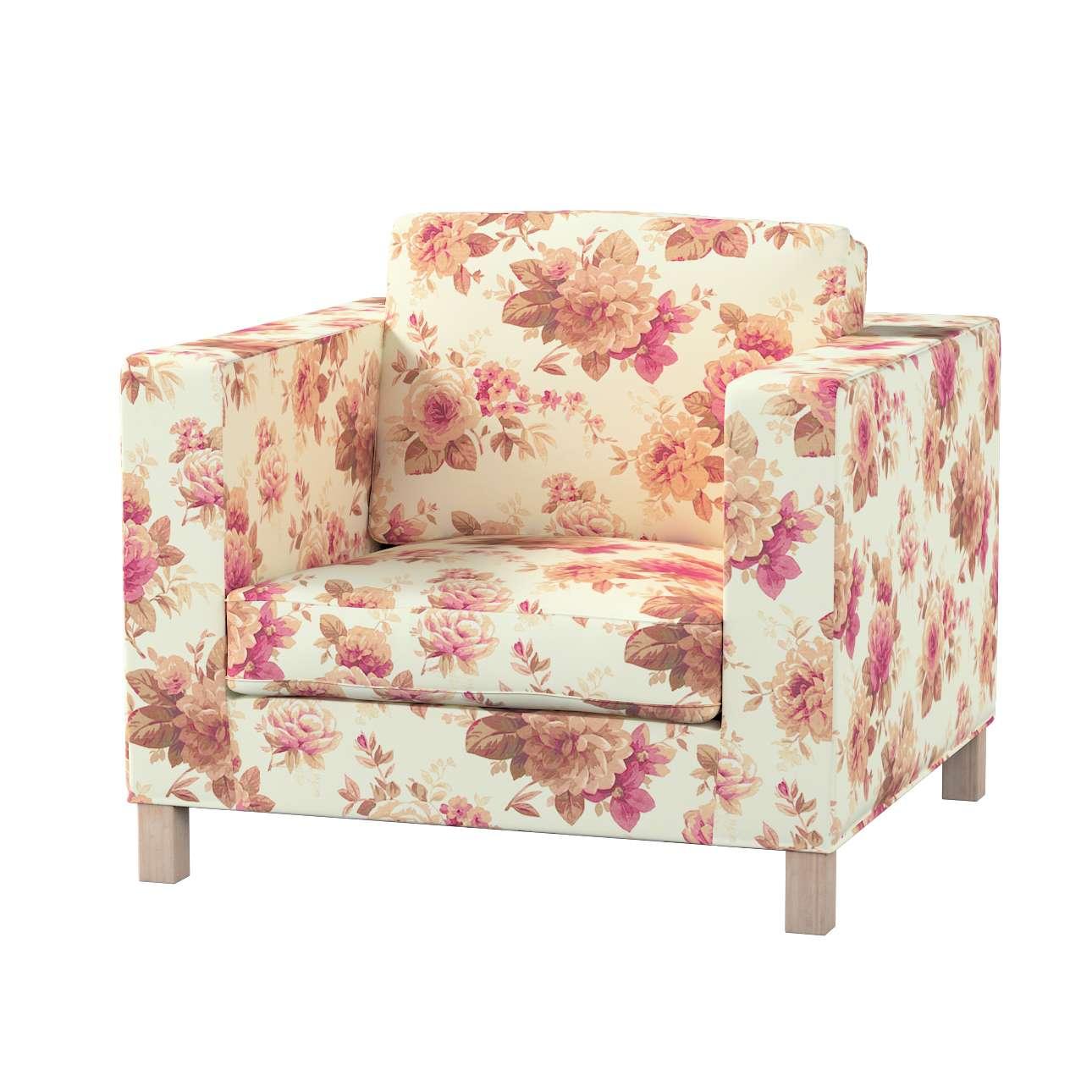 Pokrowiec na fotel Karlanda, krótki w kolekcji Londres, tkanina: 141-06