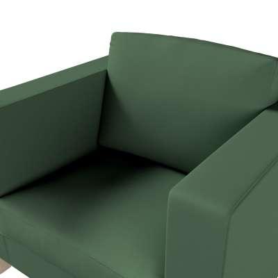 Pokrowiec na fotel Karlanda, krótki w kolekcji Cotton Panama, tkanina: 702-06