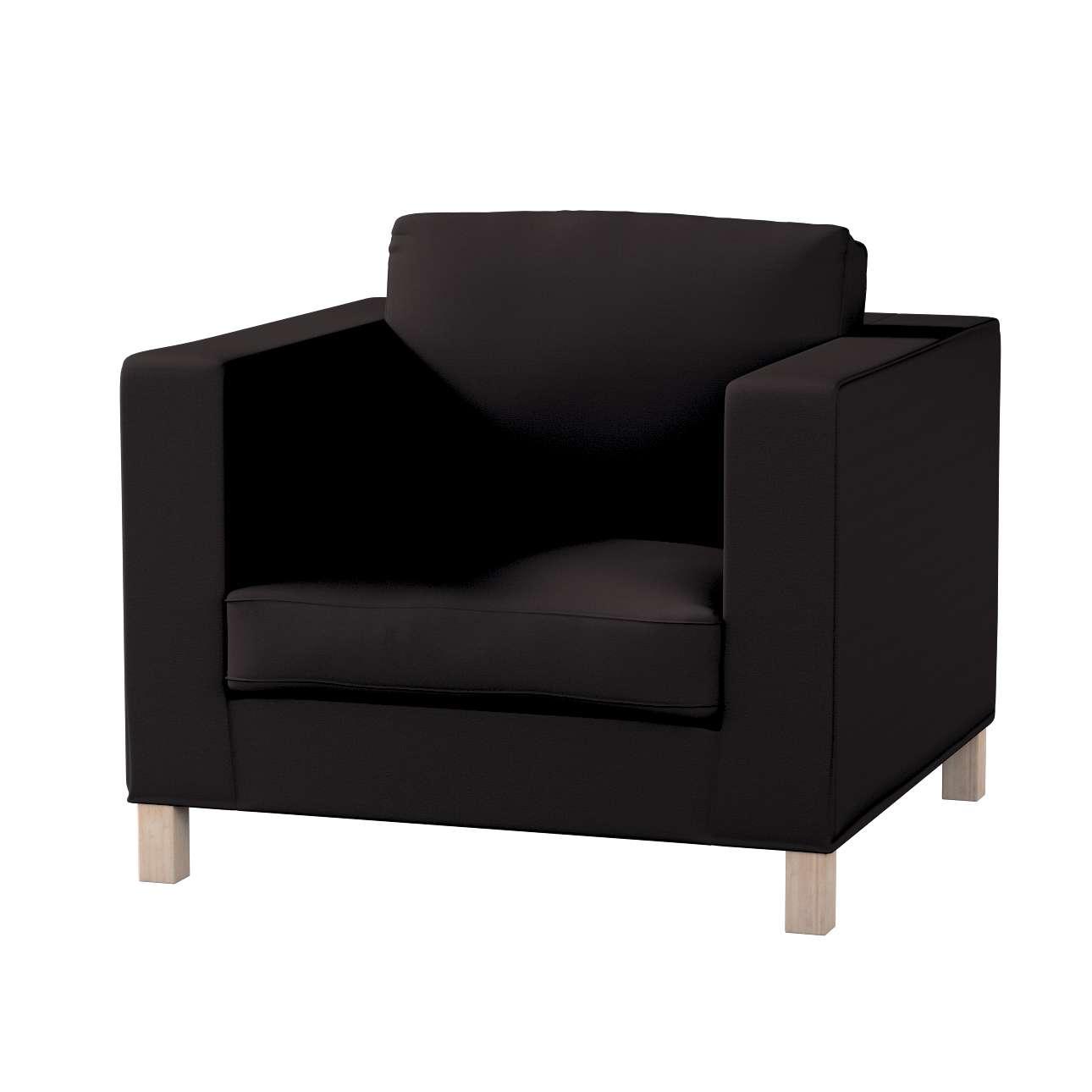 Pokrowiec na fotel Karlanda, krótki w kolekcji Cotton Panama, tkanina: 702-09