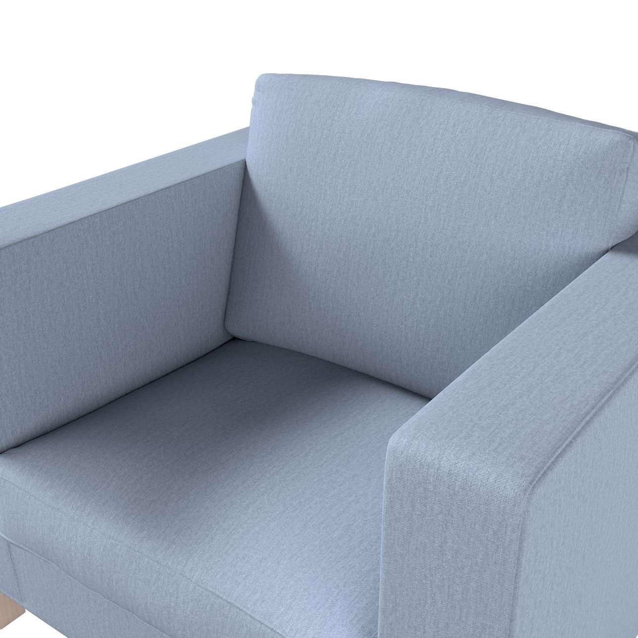 Pokrowiec na fotel Karlanda, krótki w kolekcji Chenille, tkanina: 702-13