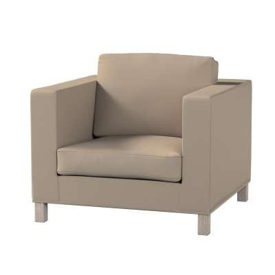 Pokrowiec na fotel Karlanda, krótki w kolekcji Cotton Panama, tkanina: 702-28