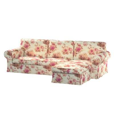 Pokrowiec na sofę Ektorp 2-osobową i leżankę w kolekcji Londres, tkanina: 141-06