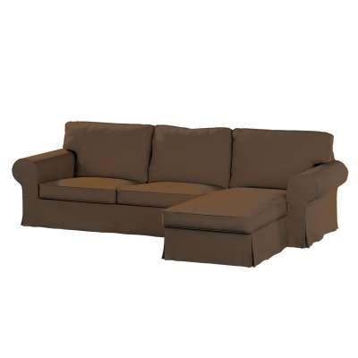 Pokrowiec na sofę Ektorp 2-osobową i leżankę w kolekcji Cotton Panama, tkanina: 702-02