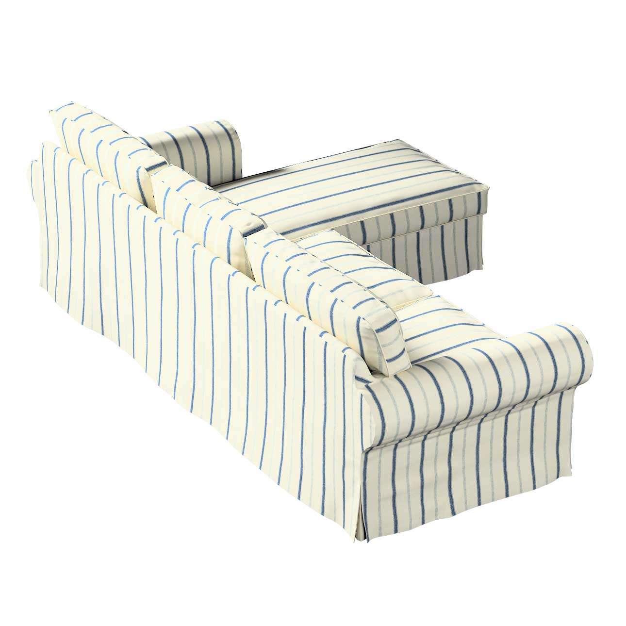 Ektorp trekk 2 seter med sjeselong fra kolleksjonen Avinon, Stoffets bredde: 129-66