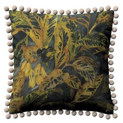 Věra - potah na polštář ozdobné bambulky po obvodu v kolekci Abigail, látka: 143-01