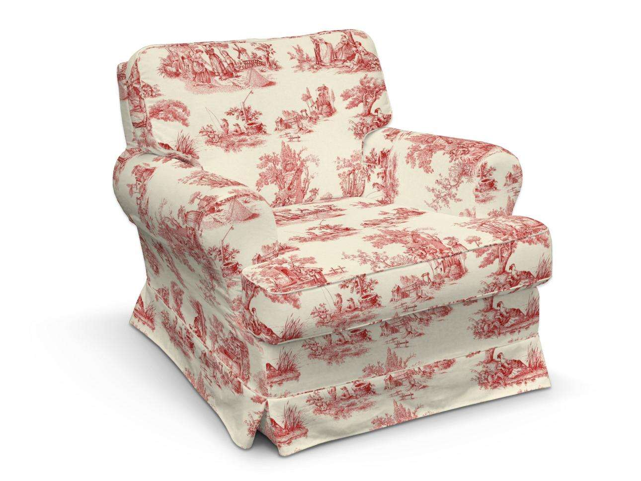 Pokrowiec na fotel Barkaby w kolekcji Avinon, tkanina: 132-15