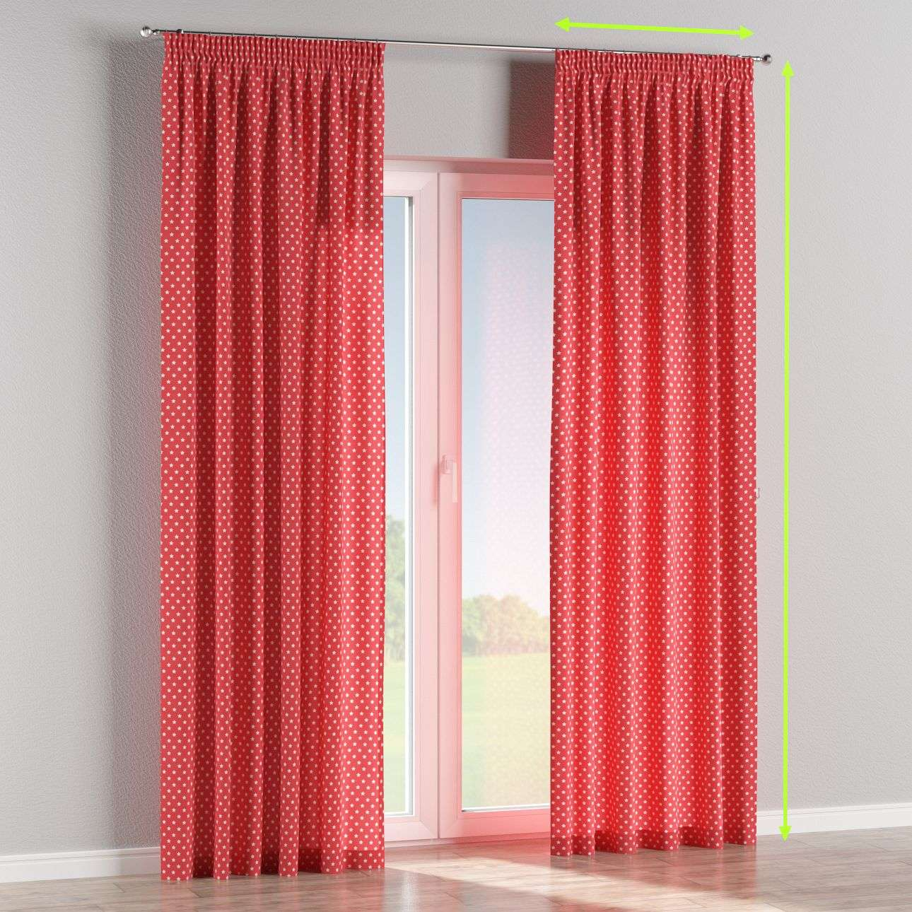 Pencil pleat curtains in collection Little World, fabric: 137-69