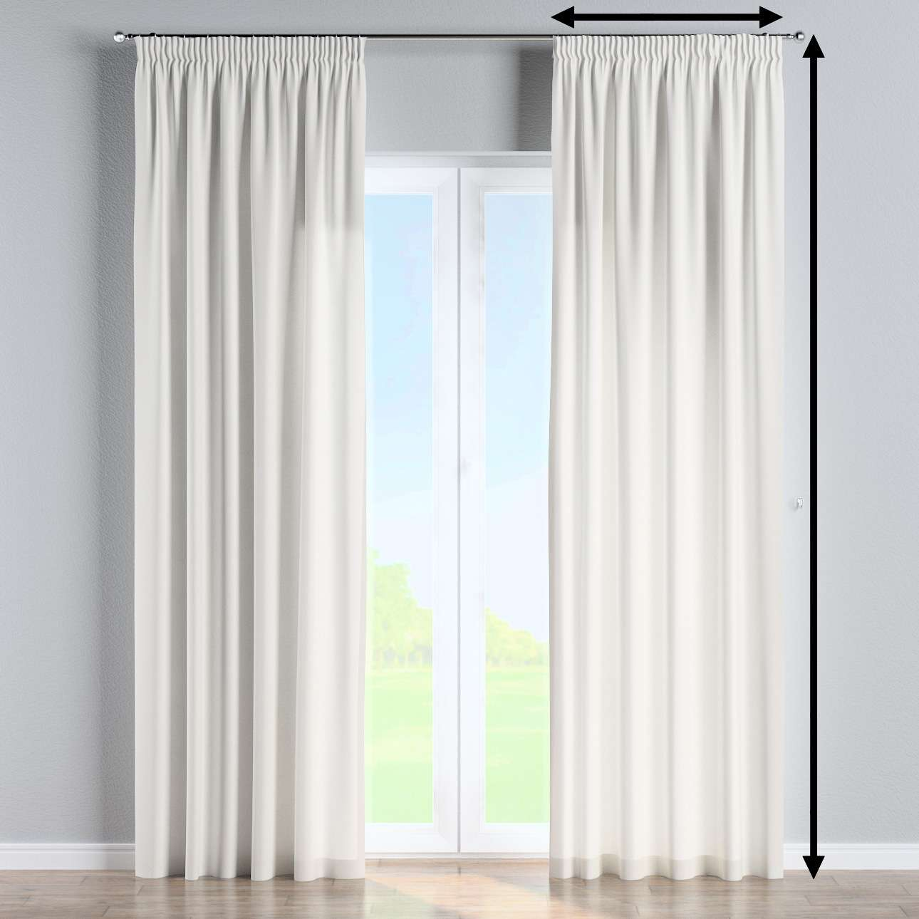 Pencil pleat curtains in collection Panama Cotton, fabric: 702-34