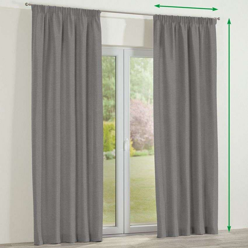 Pencil pleat curtains in collection Etna, fabric: 705-03