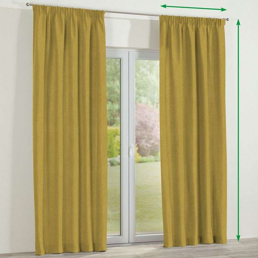 Pencil pleat curtains in collection Etna, fabric: 705-04