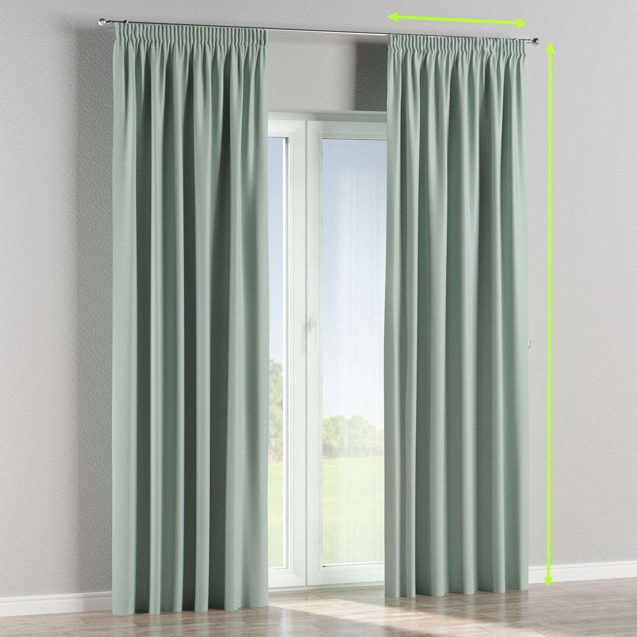 Pencil pleat curtains in collection Blackout, fabric: 269-61