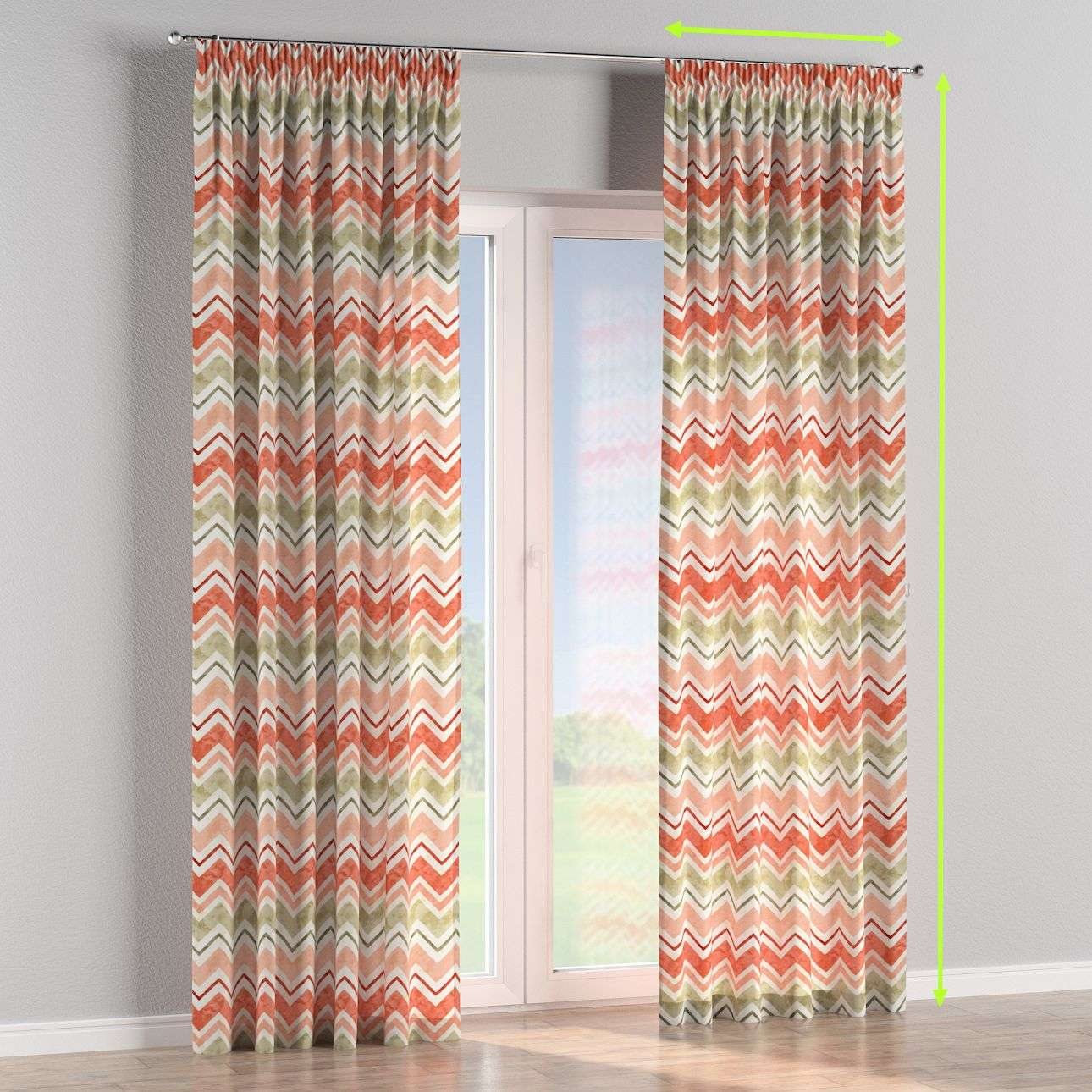 Pencil pleat curtains in collection SALE, fabric: 141-40