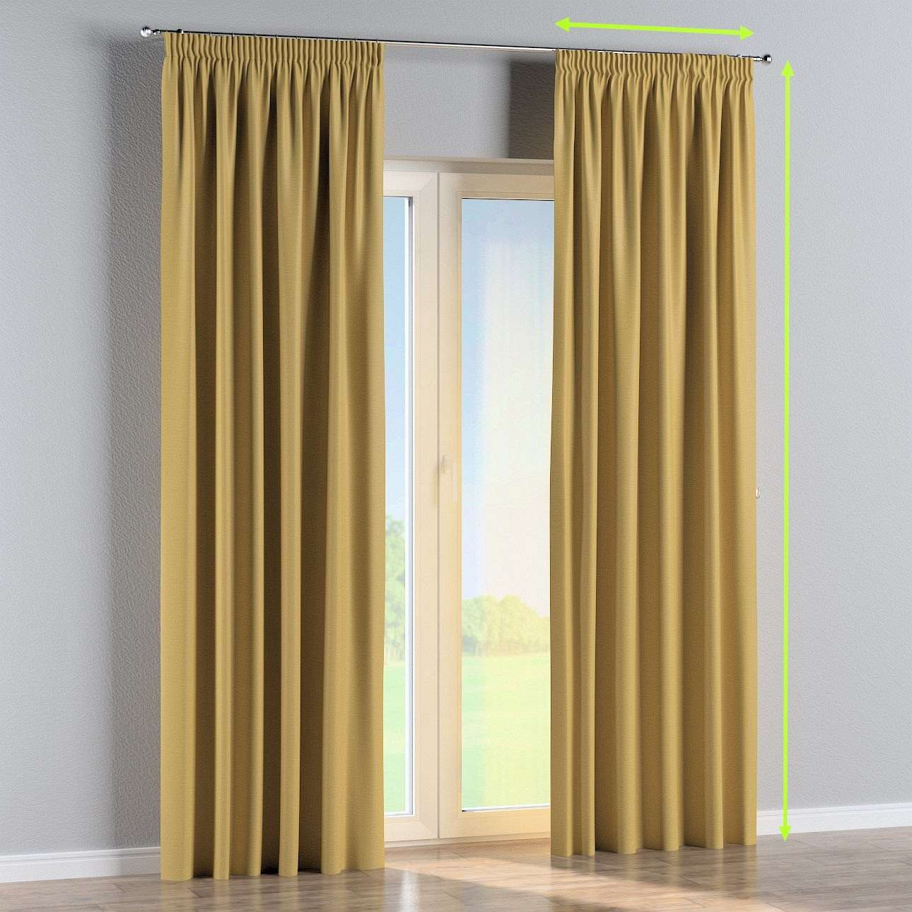 Pencil pleat curtains in collection Blackout, fabric: 269-68
