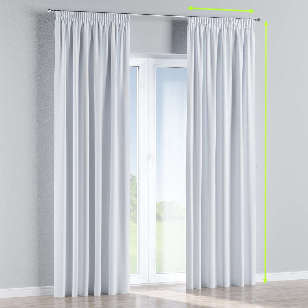 Pencil pleat curtains in collection Blackout, fabric: 269-01