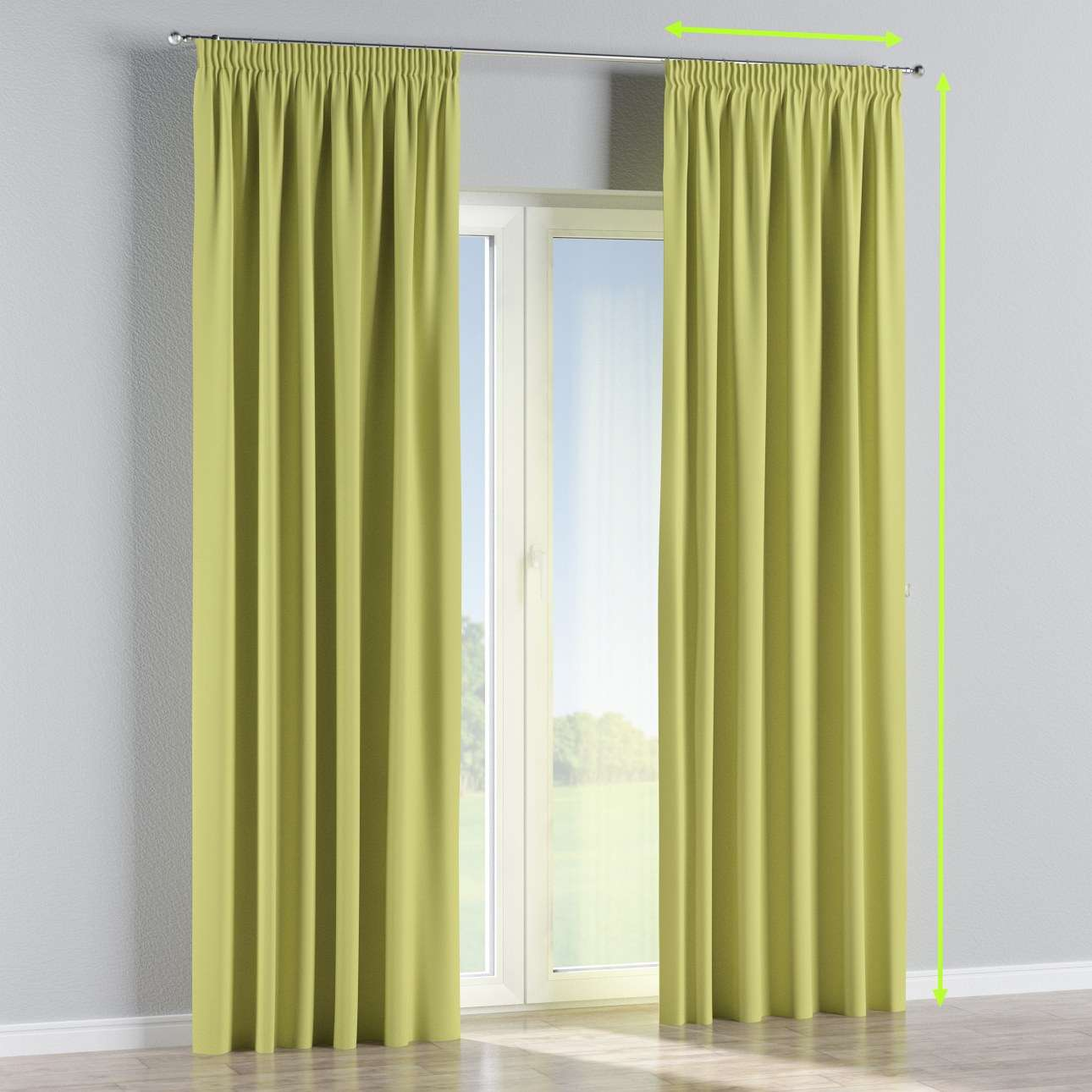 Pencil pleat curtains in collection Blackout, fabric: 269-17