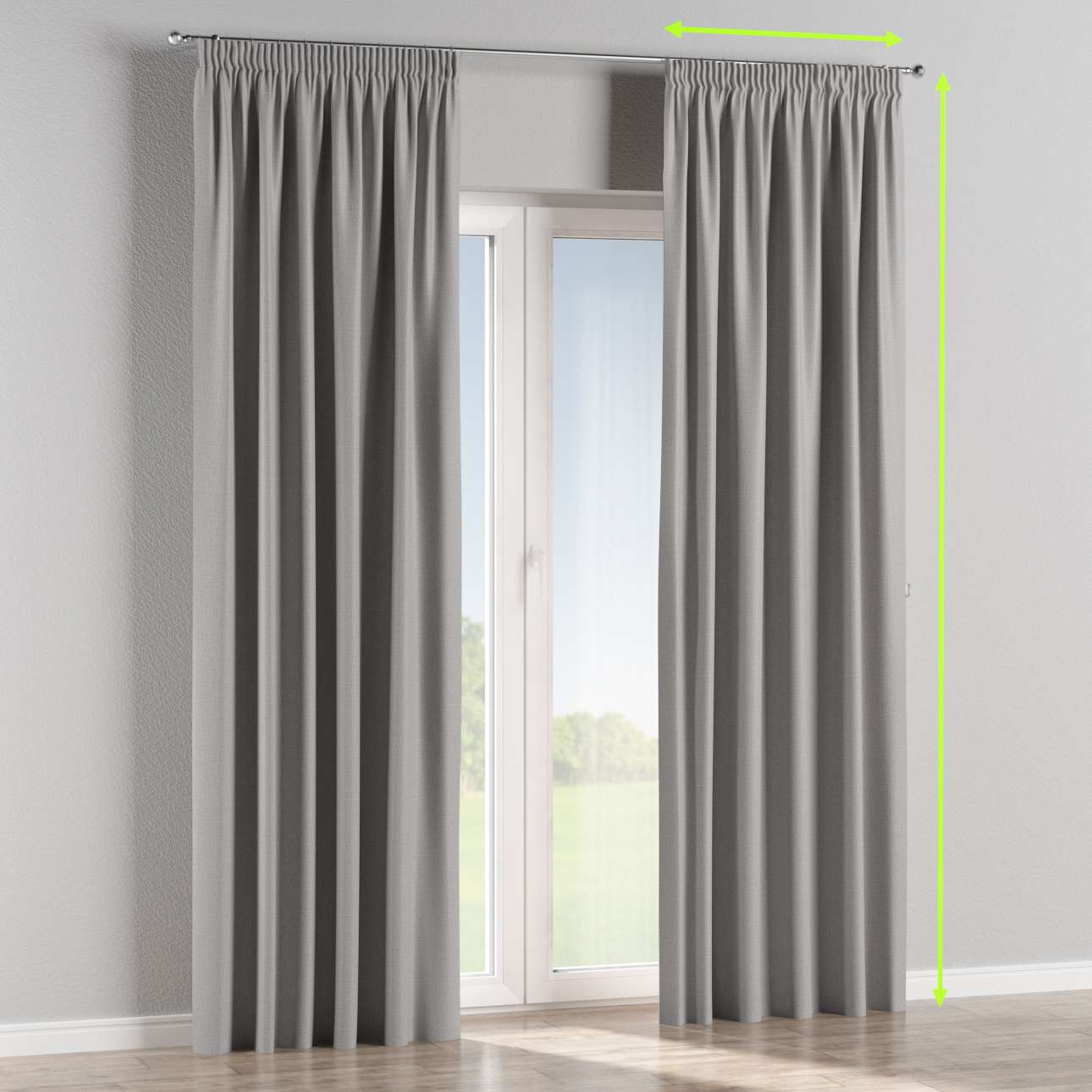 Blackout pencil pleat curtains in collection Blackout, fabric: 269-64