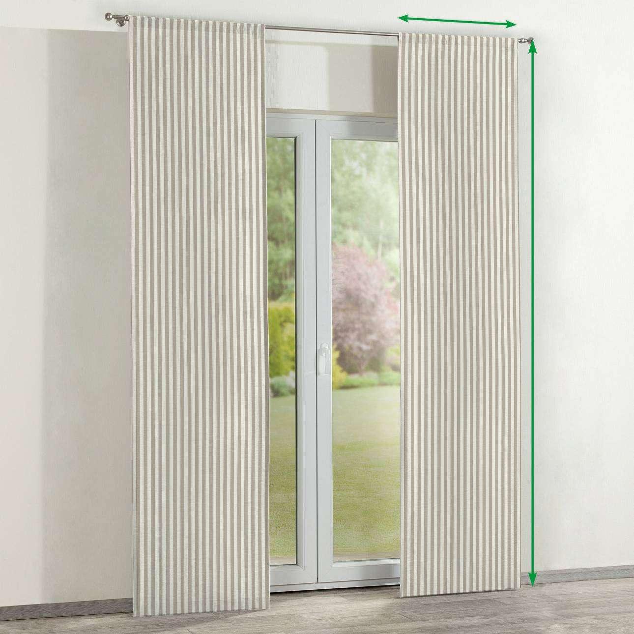Zasłony panelowe 2 szt. w kolekcji Quadro, tkanina: 136-07