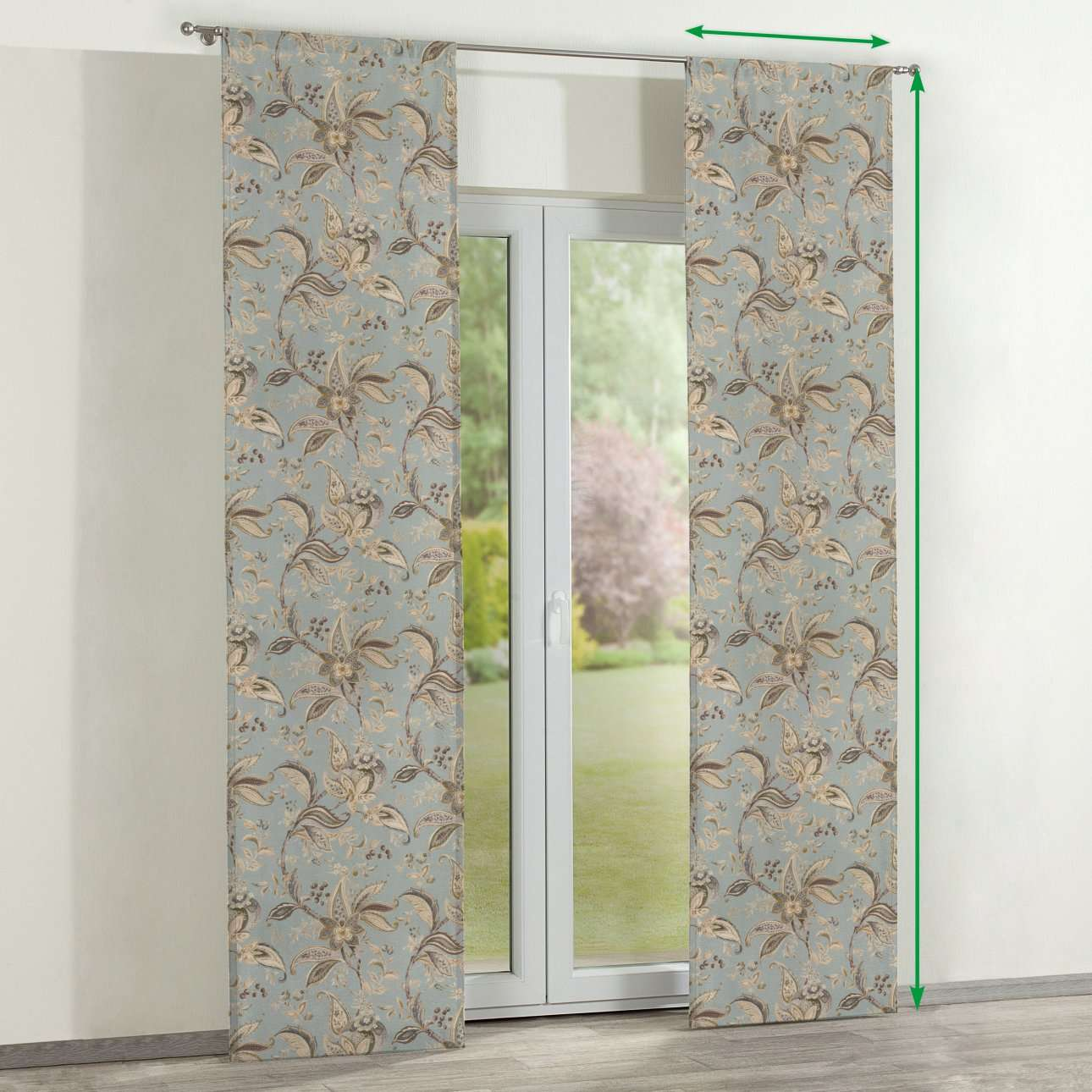 Panelové závesy 2 ks V kolekcii Gardenia, tkanina: 142-18