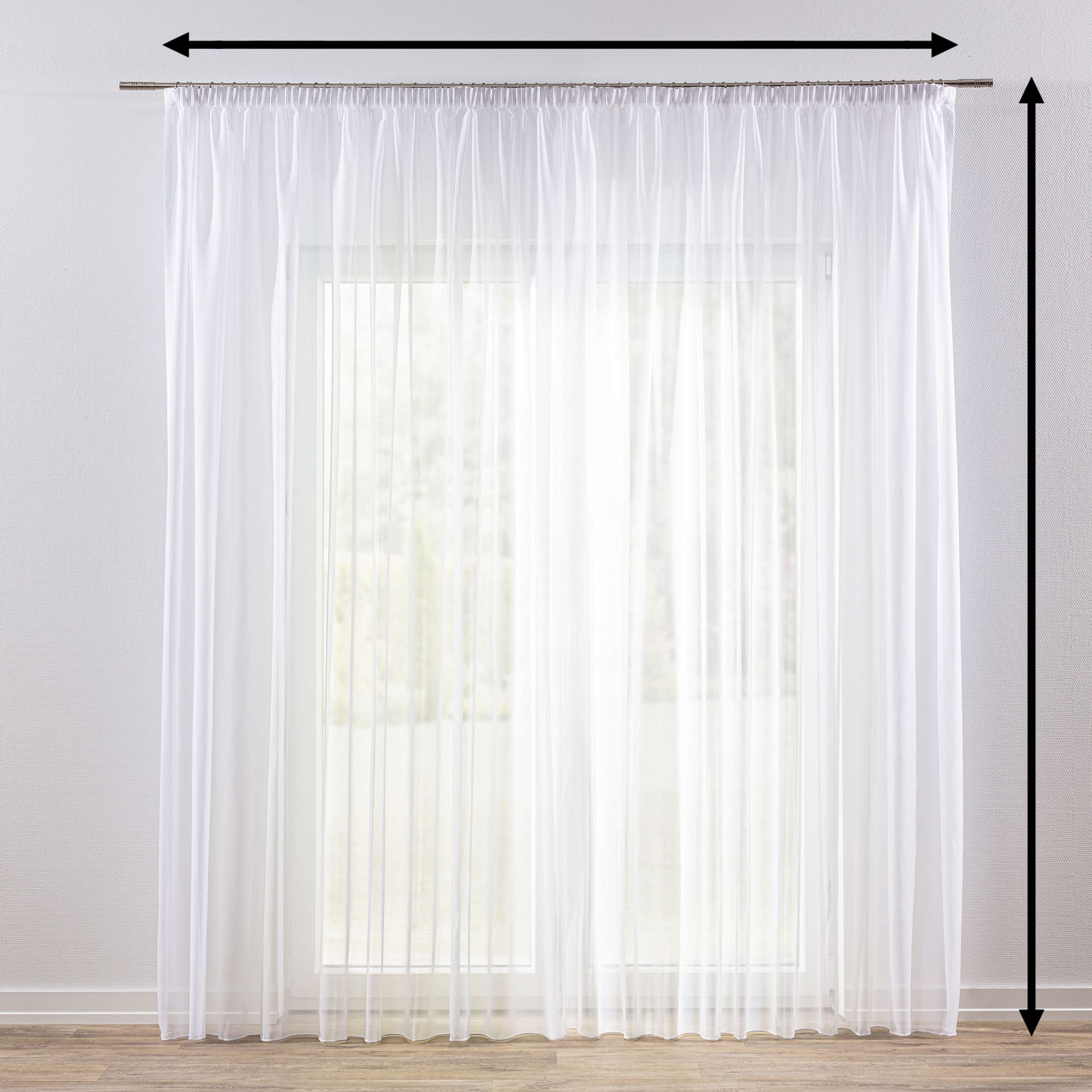 Záclona na riasiacej páske V kolekcii Voálové záclony, tkanina: 901-00