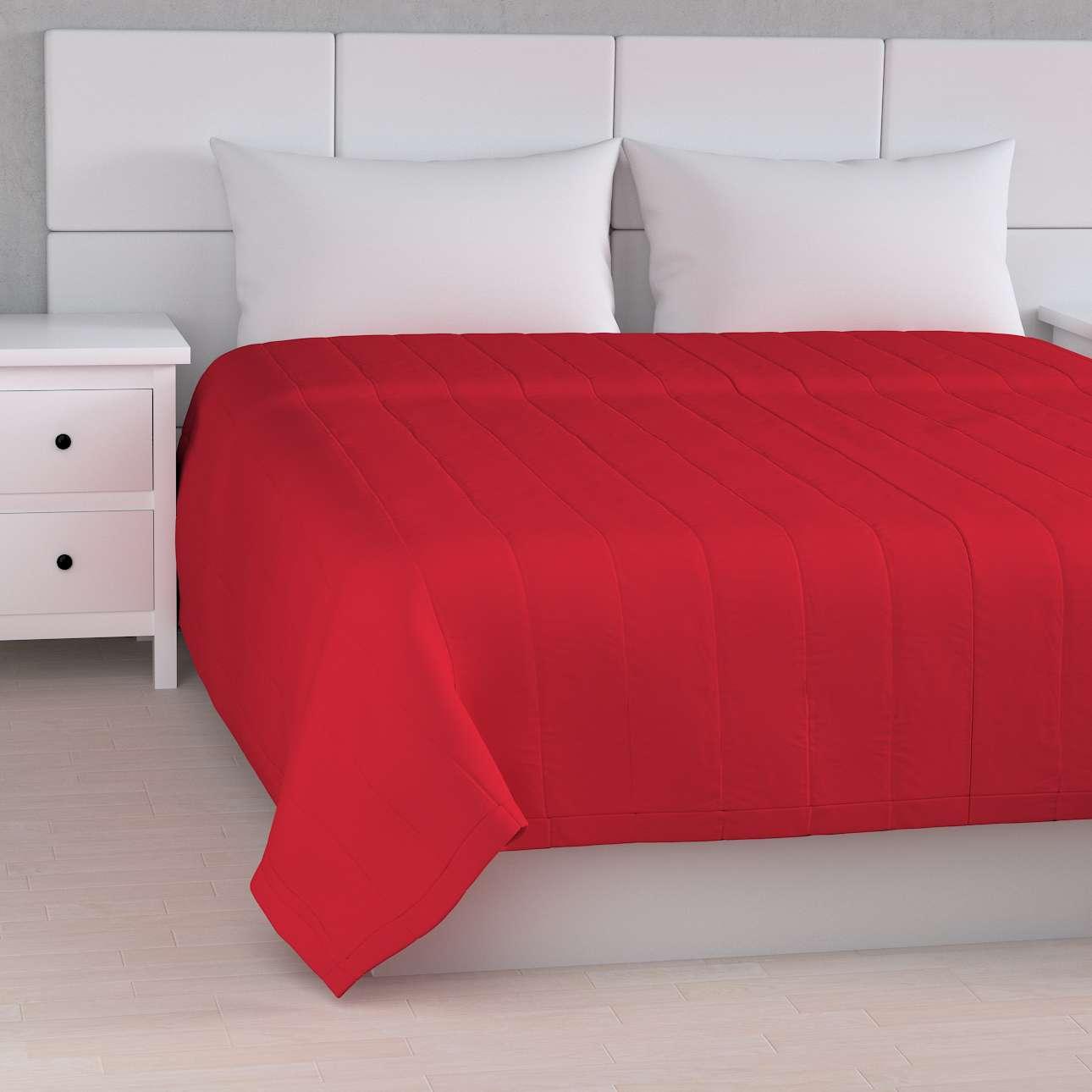 Tagesdecke mit Streifen-Steppung von der Kollektion Cotton Panama, Stoff: 702-04