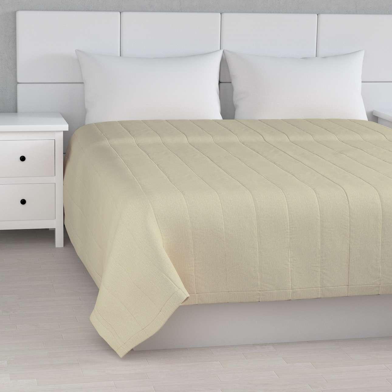 Sengetæppe quiltet<br/>10cm striber fra kollektionen Chenille, Stof: 702-22