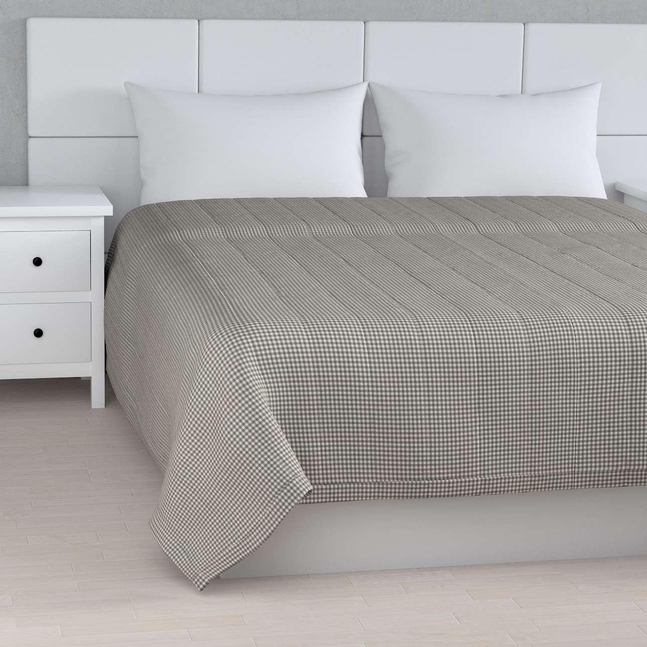 Tagesdecke mit Streifen-Steppung von der Kollektion Quadro, Stoff: 136-10