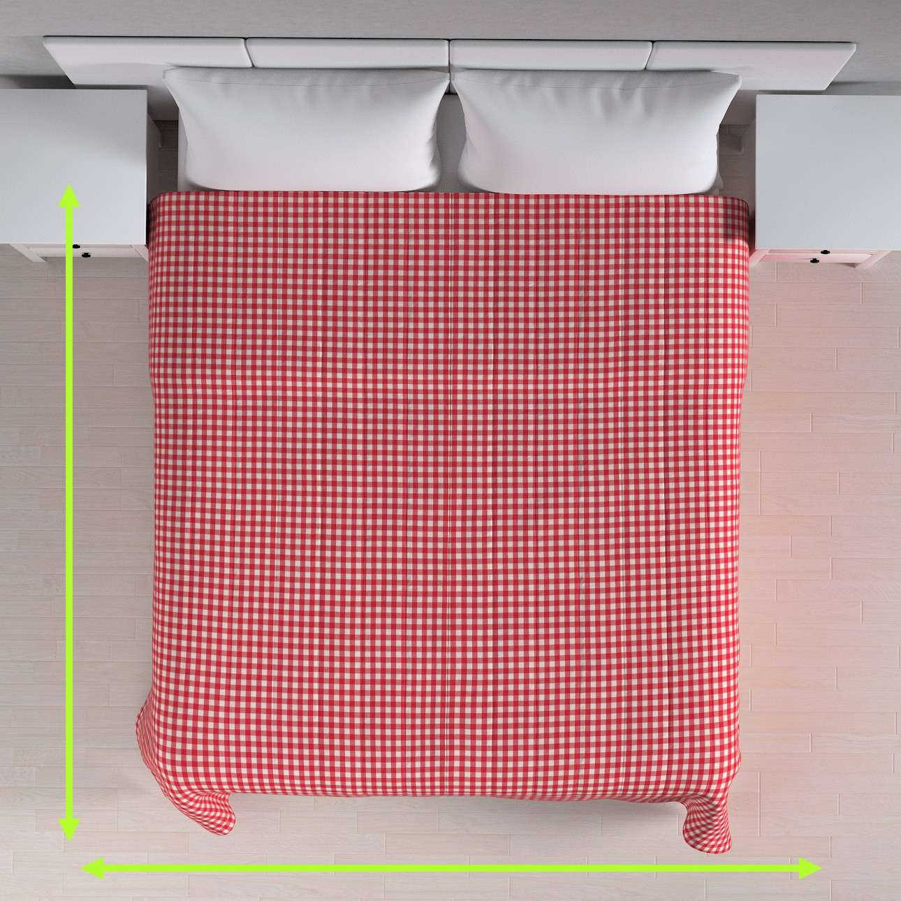 Tagesdecke mit Streifen-Steppung von der Kollektion Quadro, Stoff: 136-16
