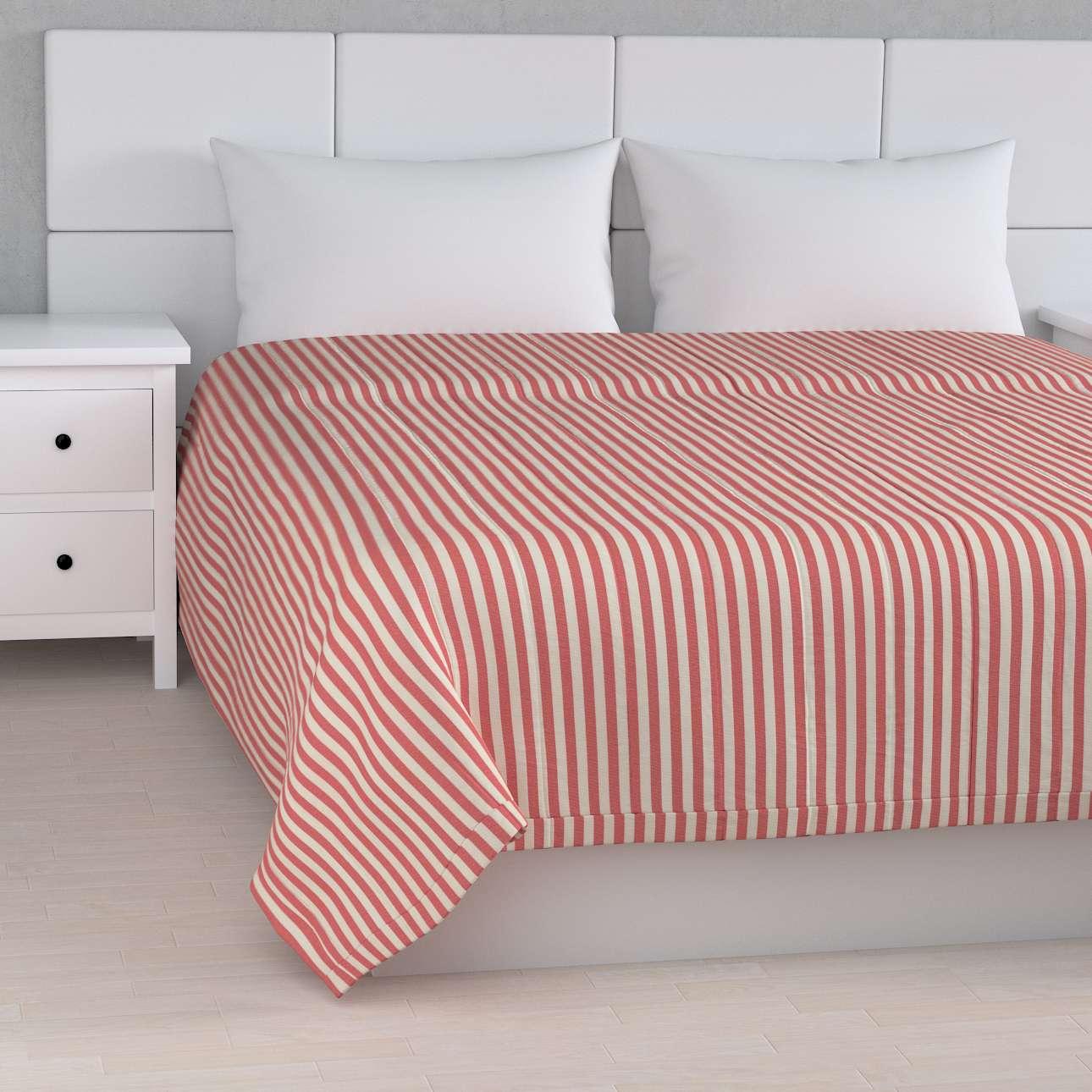 Sengeteppe quiltet<br/>10cm striper fra kolleksjonen Quadro, Stoffets bredde: 136-17