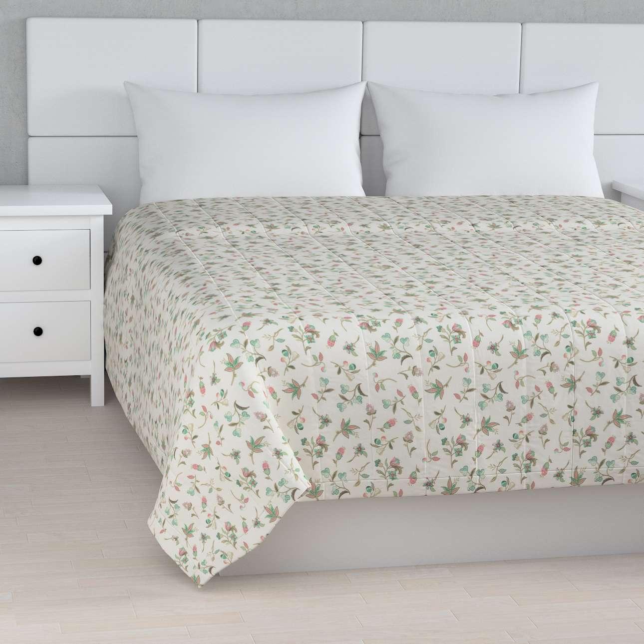 Sengetæppe quiltet<br/>10cm striber fra kollektionen Londres, Stof: 122-02