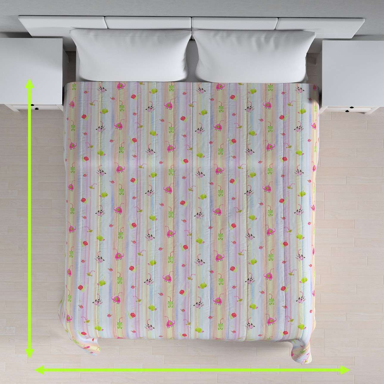 Prehoz na posteľ jednoduchý V kolekcii Little World, tkanina: 151-05