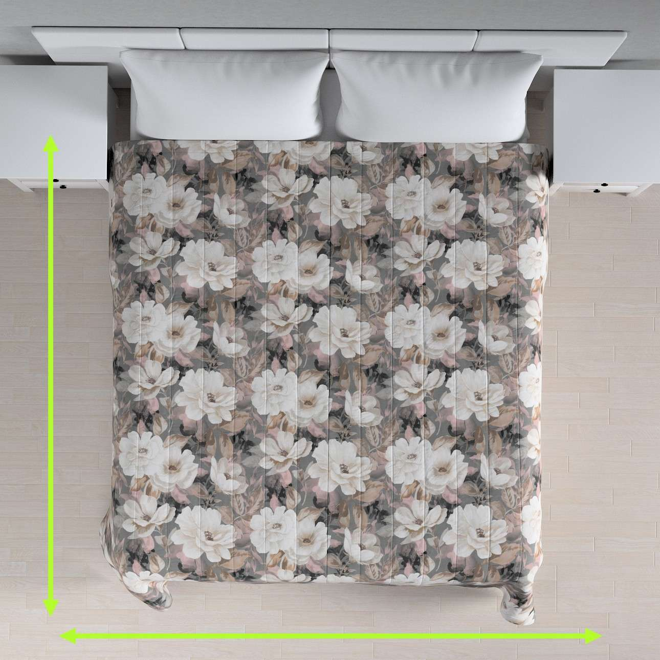 Stripe quilted throw in collection Gardenia, fabric: 142-13