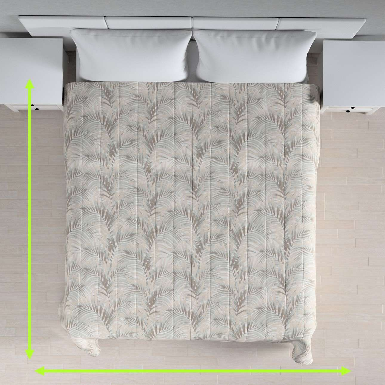 Sengetæppe quiltet<br/>10cm striber fra kollektionen Gardenia, Stof: 142-14