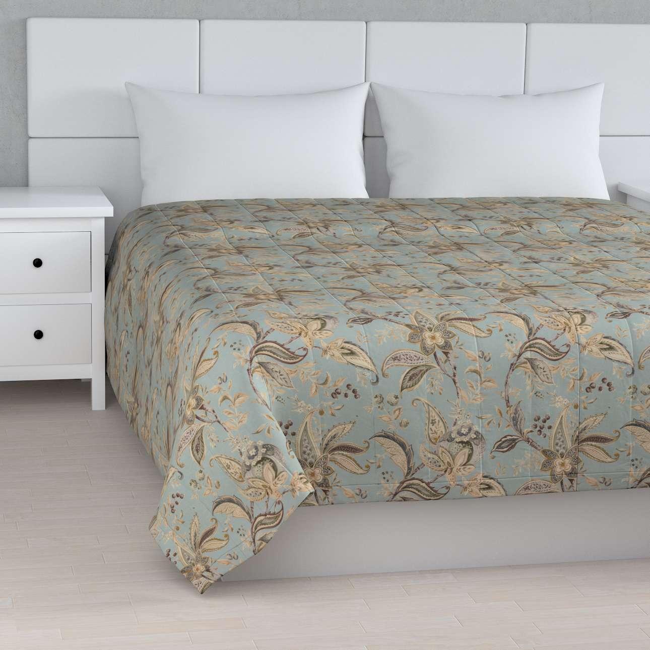 Sengetæppe quiltet<br/>10cm striber fra kollektionen Gardenia, Stof: 142-18