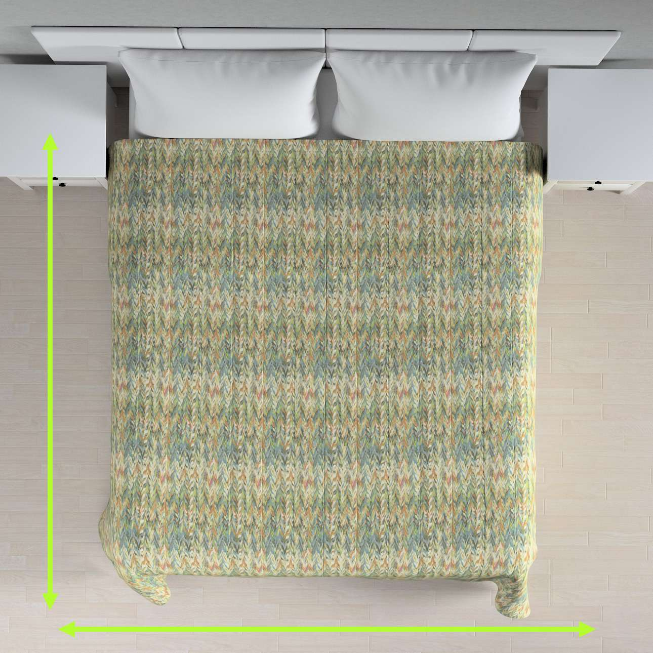 Stripe quilted throw in collection Tropical Island, fabric: 142-67