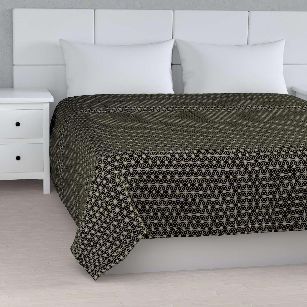 Päiväpeitto tikattu raidat mallistosta Black & White, Kangas: 142-56