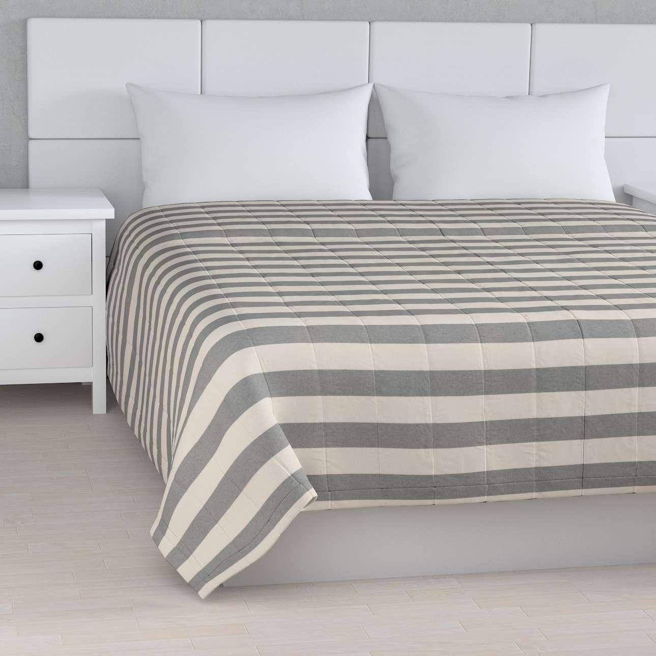 Tagesdecke mit Streifen-Steppung von der Kollektion Quadro, Stoff: 142-71