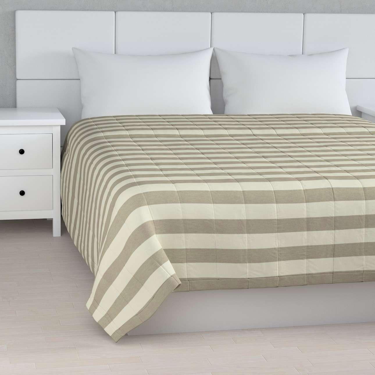 Tagesdecke mit Streifen-Steppung von der Kollektion Quadro, Stoff: 142-73
