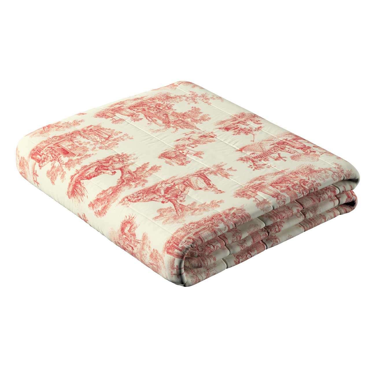 Sengetæppe quiltet<br/>10cm striber fra kollektionen Avinon, Stof: 132-15
