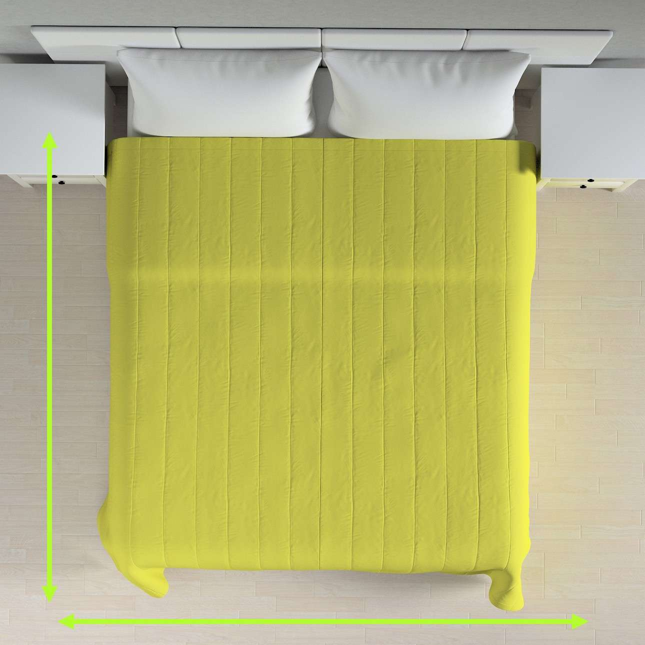 Sengetæppe quiltet<br/>10cm striber fra kollektionen Jupiter, Stof: 127-50
