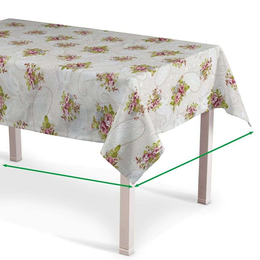 Rectangular tablecloth in collection Flowers, fabric: 311-15