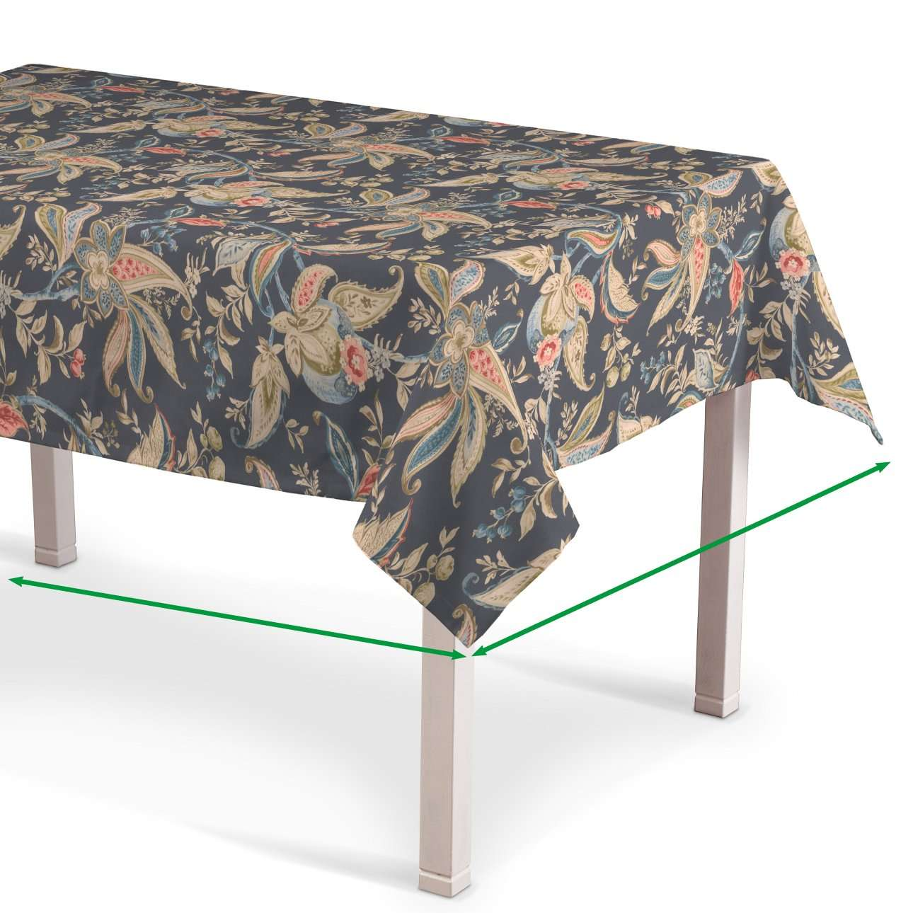 Rectangular tablecloth in collection Gardenia, fabric: 142-19