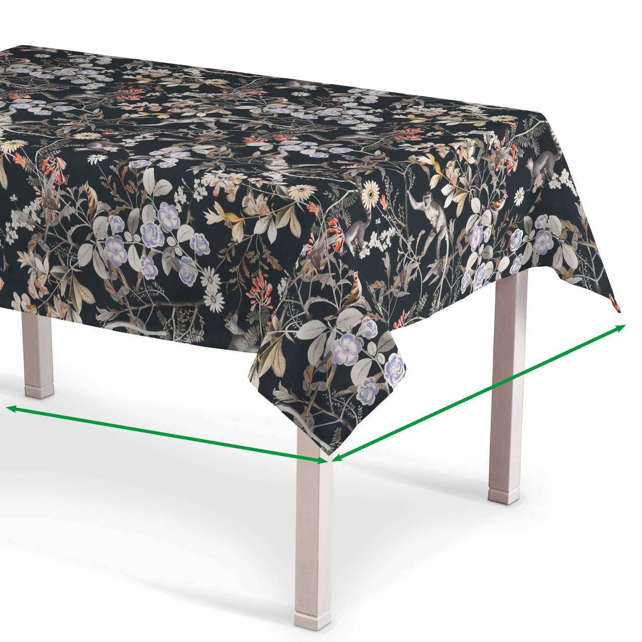 Rectangular tablecloth in collection Tropical Island, fabric: 142-60