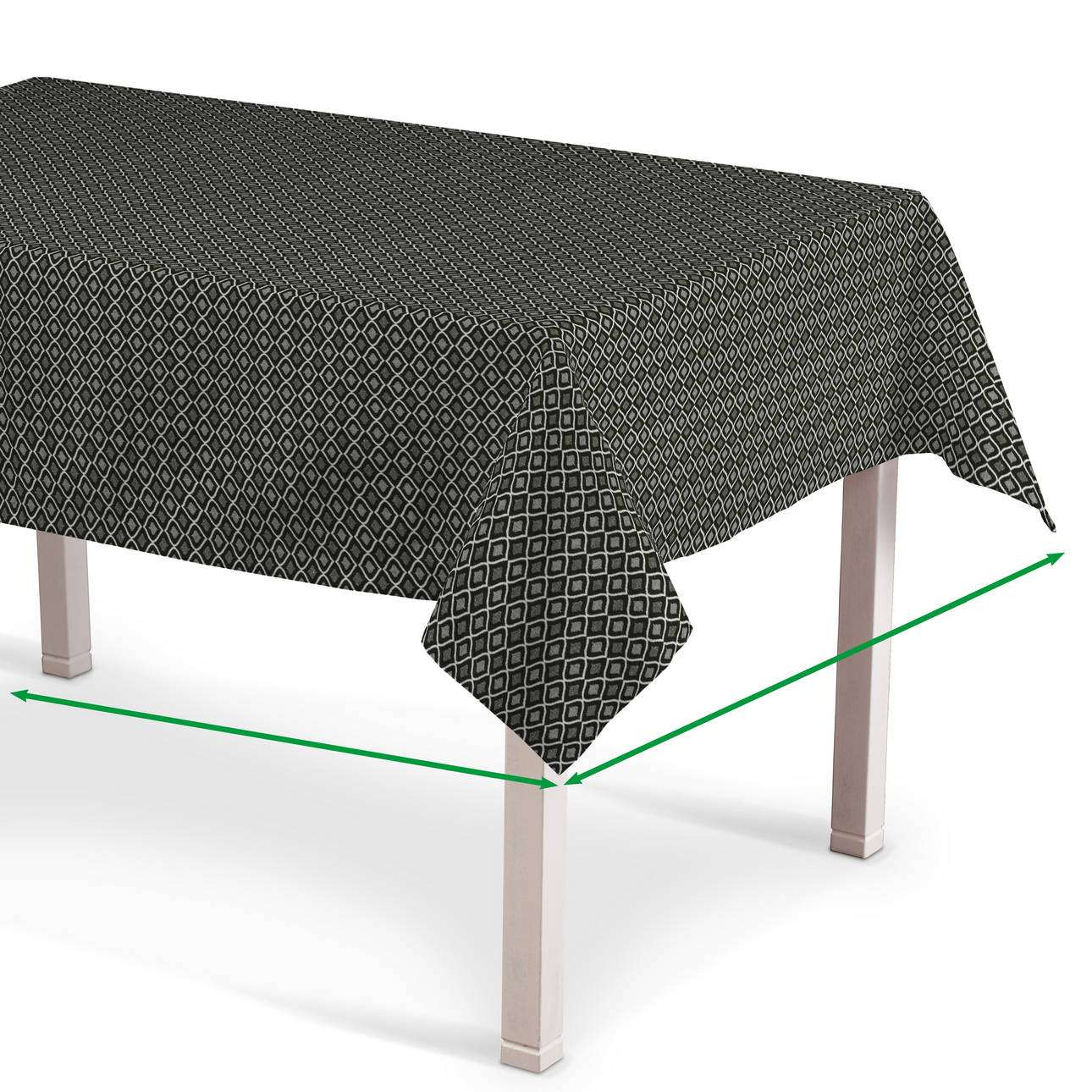 Rectangular tablecloth in collection Black & White, fabric: 142-86