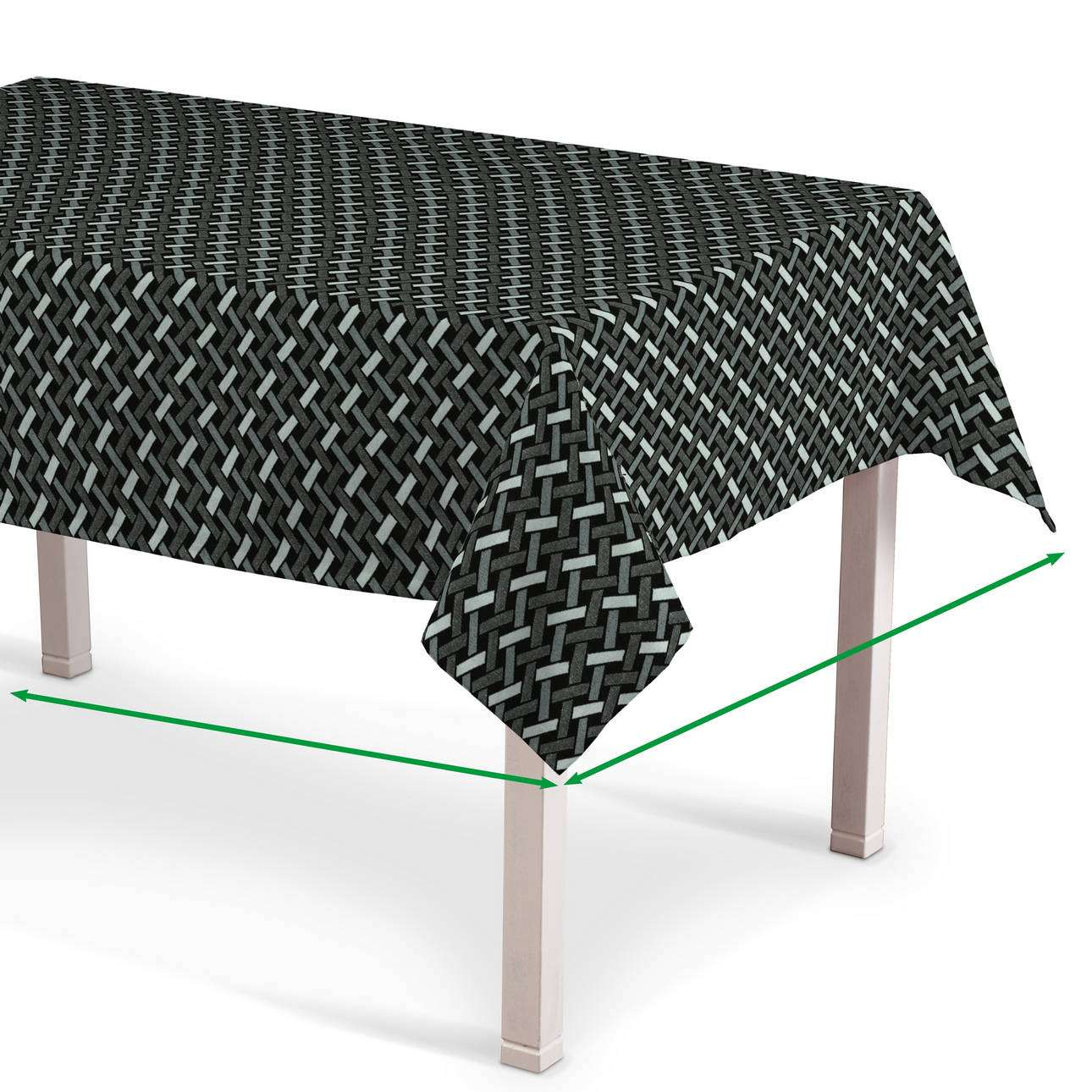 Rectangular tablecloth in collection Black & White, fabric: 142-87