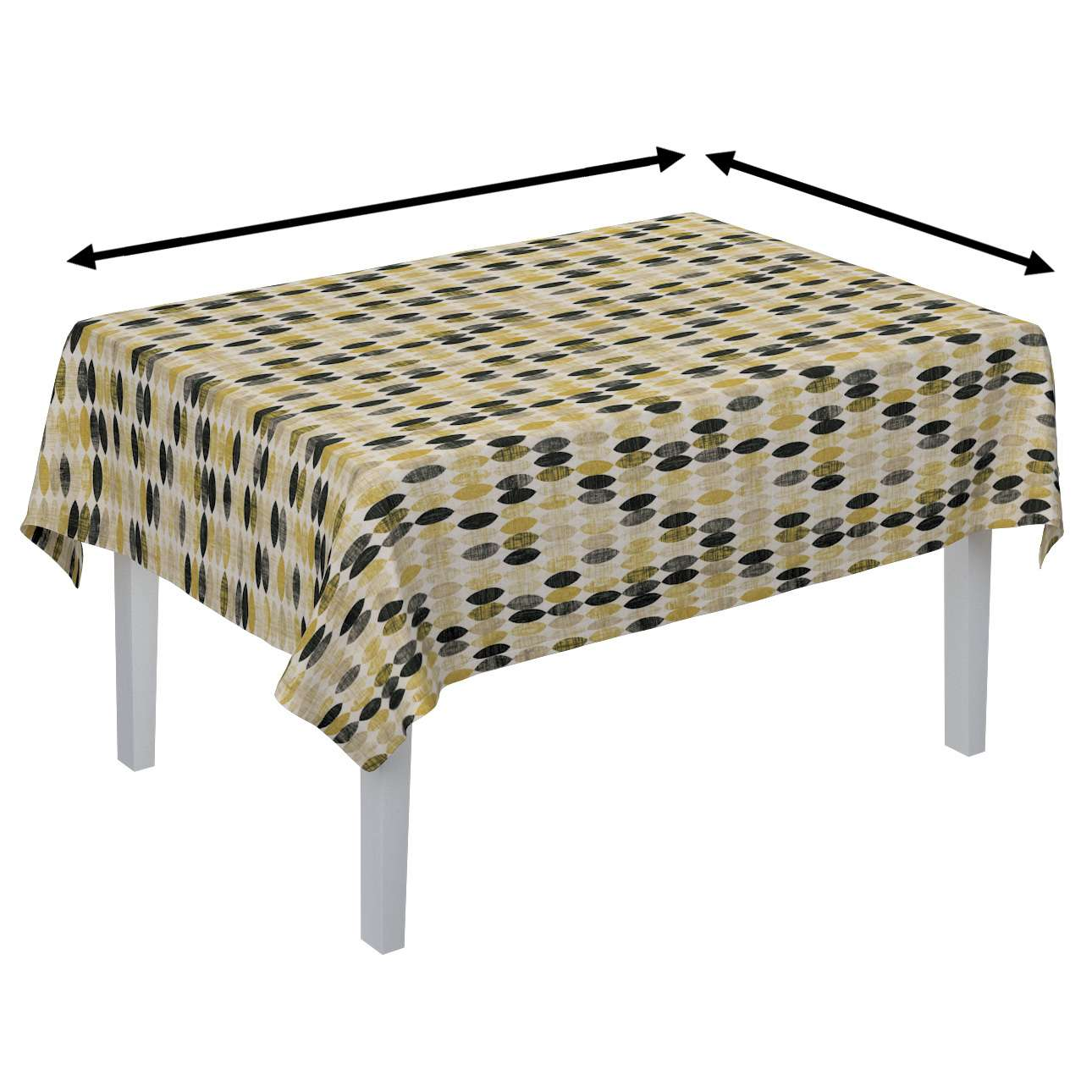 Rectangular tablecloth in collection Modern, fabric: 142-99