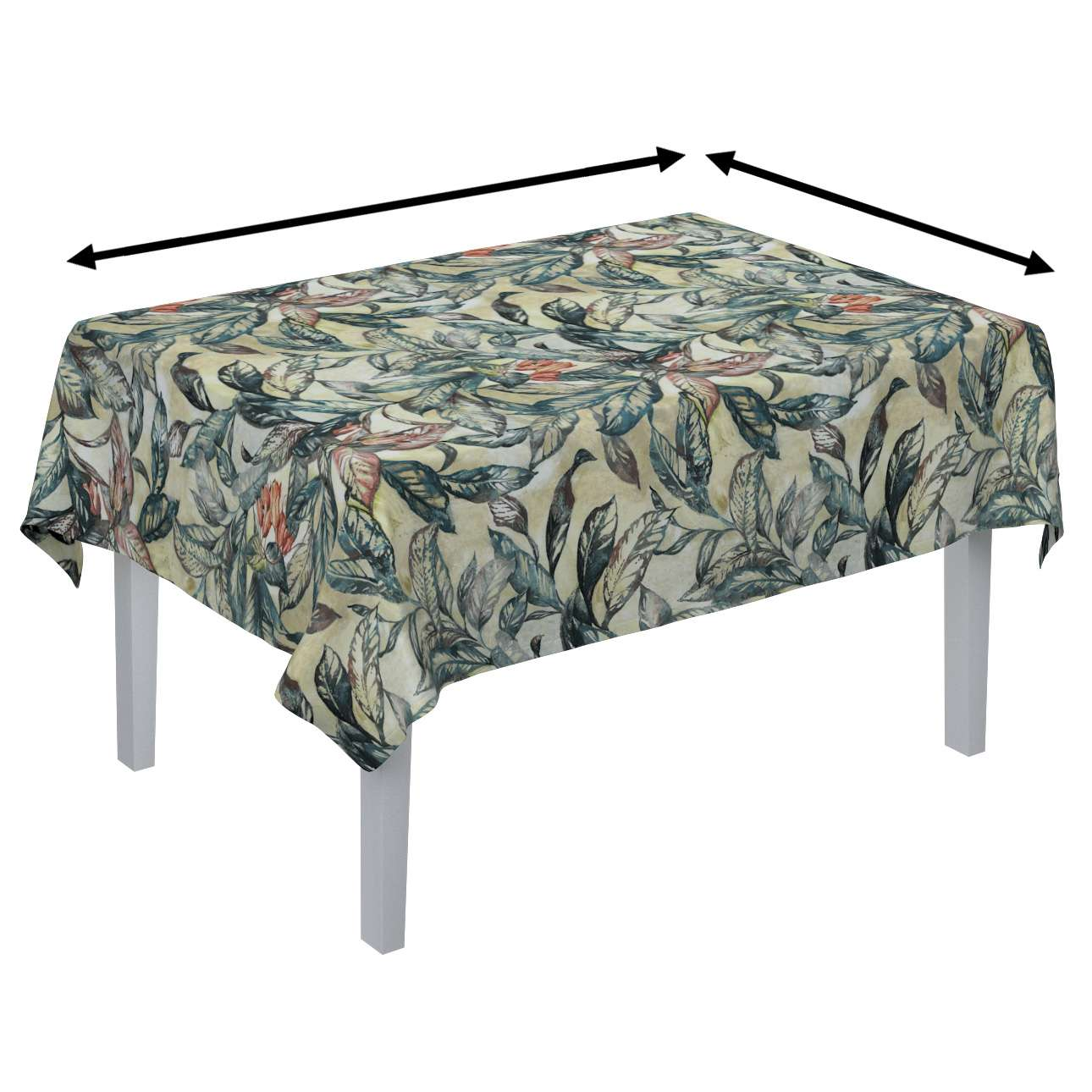 Rectangular tablecloth in collection Abigail, fabric: 143-08