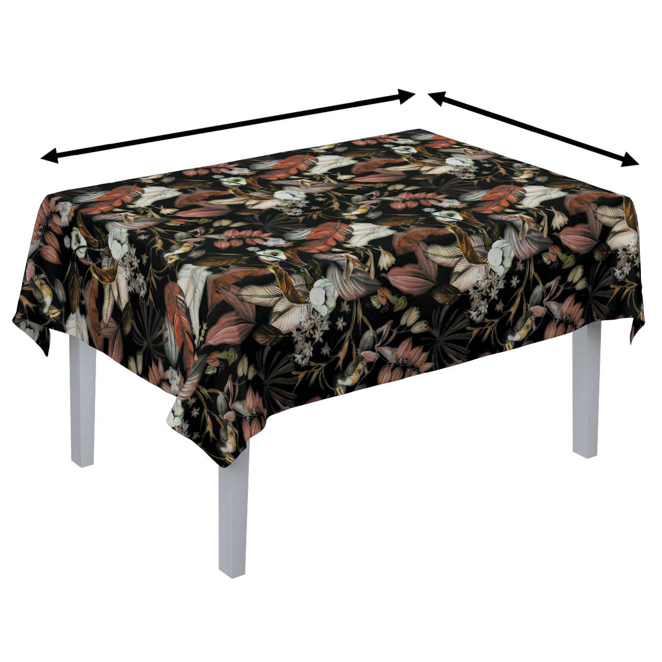 Rectangular tablecloth in collection Abigail, fabric: 143-10